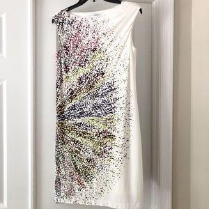 Maggy London Ivory Confetti Sleeveless Dress 8
